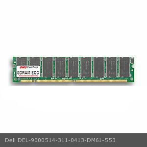 DMS Compatible/Replacement for Dell 311-0413 PowerApp.cache-100 700 128MB DMS Certified Memory PC100 16X72-8 ECC 168 Pin  SDRAM DIMM - DMS