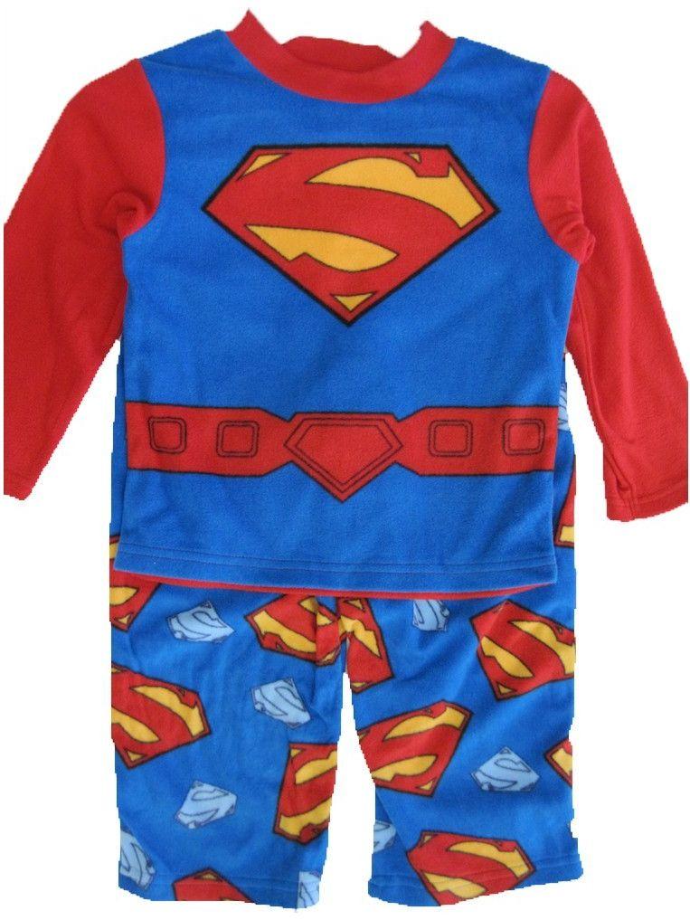 Little Boys Royal Blue Logo Print 2 Pc Pajama Set 2T-6