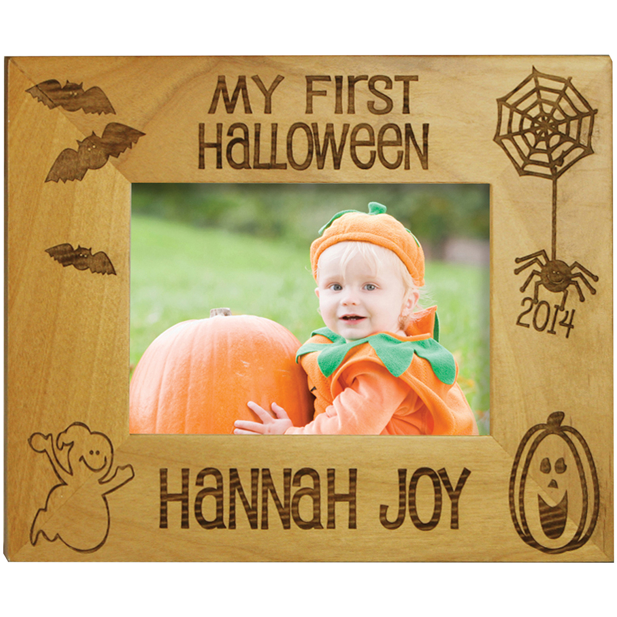 """Personalized My First Halloween, Horizontal, 5"""" x 7"""""""