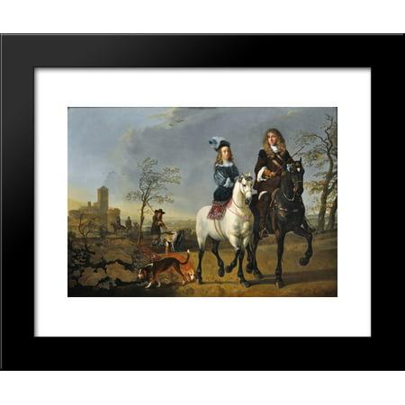 Lady and Gentleman on Horseback 20x24 Framed Art Print by Aelbert Cuyp