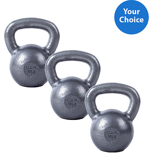 3-Piece CAP Barbell Cast Iron Kettlebell Set, 10lb Value Bundle