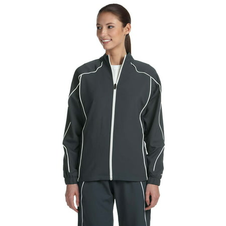 Polyester Athletic Jacket (Russell Athletic Ladies' Team Prestige Full-Zip Solid Coat S81JZX )