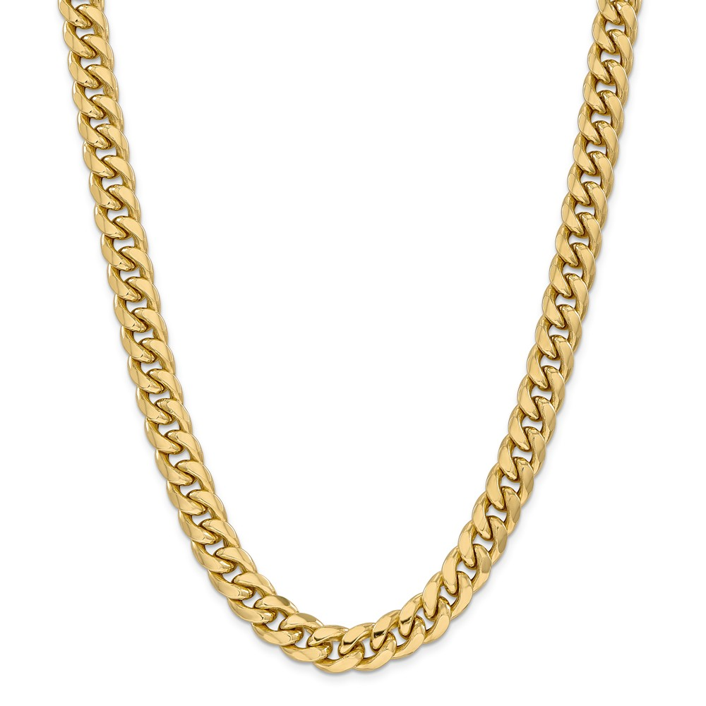 "14K Yellow Gold Hollow Miami Cuban Bracelet or Anklet -9"" (9in x 11mm) by"