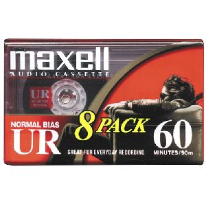 Maxell Normal Bias Audiocassette Multi Pack - 8 Pack - 60 Minutes