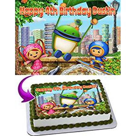 Team Umizoomi Birthday Cake Personalized Toppers Edible Frosting Photo Icing Sugar Paper A4 Sheet 1 4 Image For