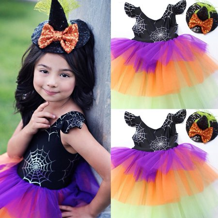 Toddler Girl Dress Kids Baby Party Halloween Baby Costumes Tulle Tutu Dresses