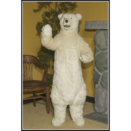 58 Large Life Size Standing Plush Polar Bear Stuffed Animal With