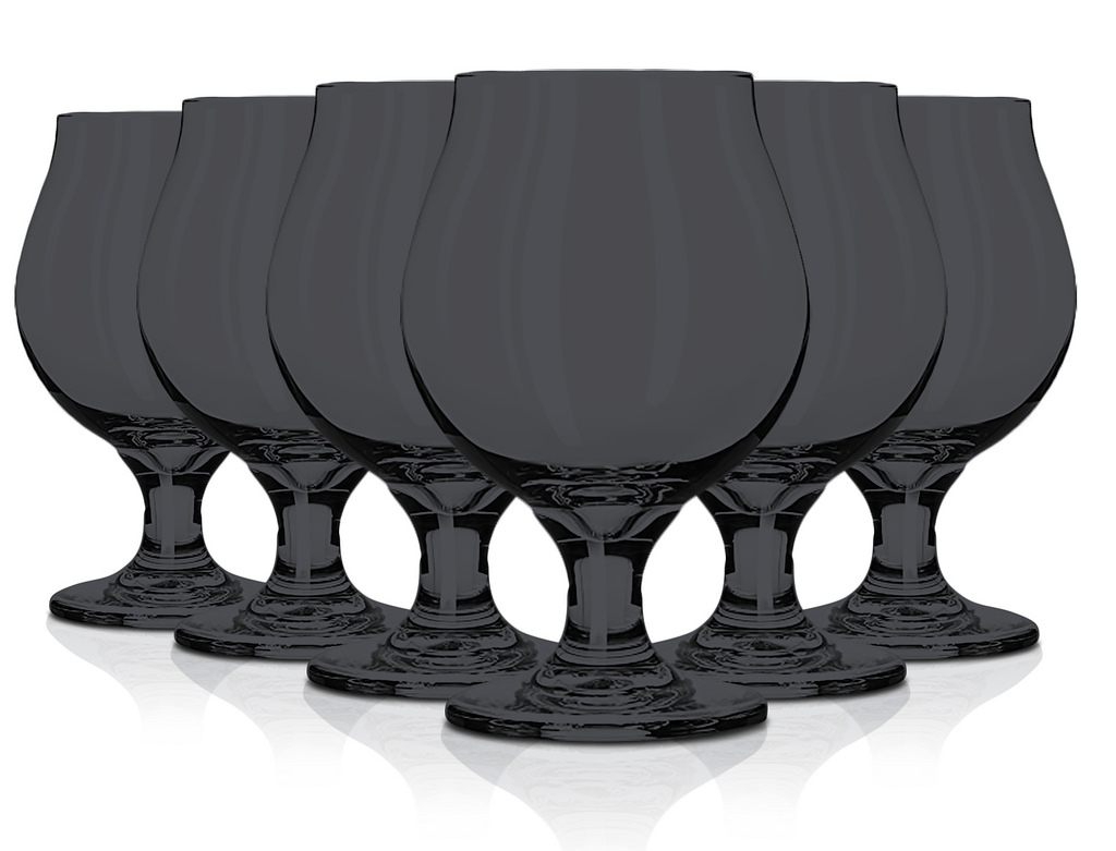 Libbey Glassware Belgian Beer Glass, 16 oz. set of 6 Black By tabletop king by TableTop King