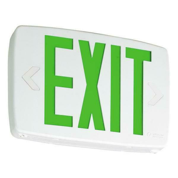 Lithonia Lighting Quantum Thermoplastic Led Emergency Exit Sign Walmart Com Walmart Com