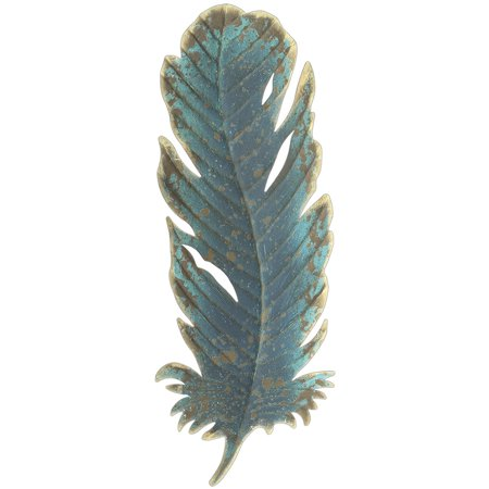 Midwest Cbk 15 Patina Metal Feather Wall Art Decor