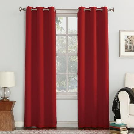 "108""x40"" Kenneth Blackout Energy Efficient Grommet Curtain Panel Red - Sun Zero"