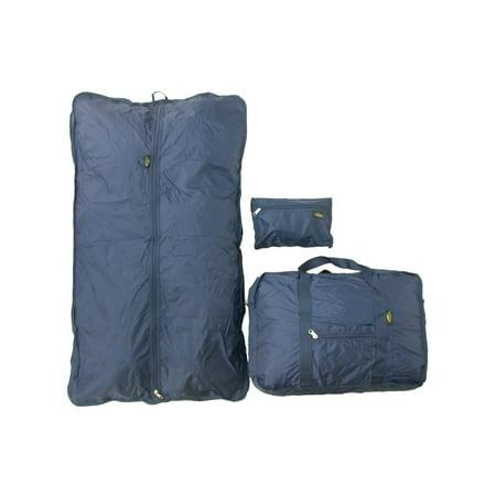 Samboro Luggage Canada Corporation Samboro Luggage Navy 3-piece Carry On Travel Bag Set - Size: Garment Bag 39 x 23 x