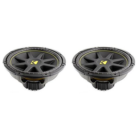 "2) NEW KICKER C15 15"" 1200W Dual 4-Ohm Comp Car Audio Subwoofers Subs 10C15D4"