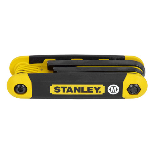 Stanley Hand Tools Metric Folding Hex Key Set - 8 Piece  90-394
