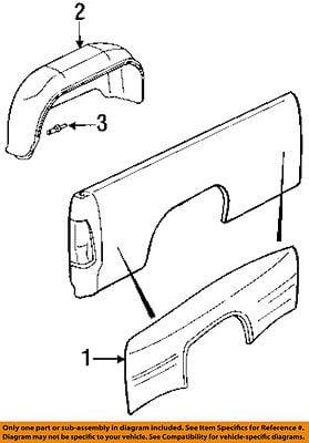Dodge Chrysler Oem Ram 3500 Fender Pickup Bed Splash Shield Left