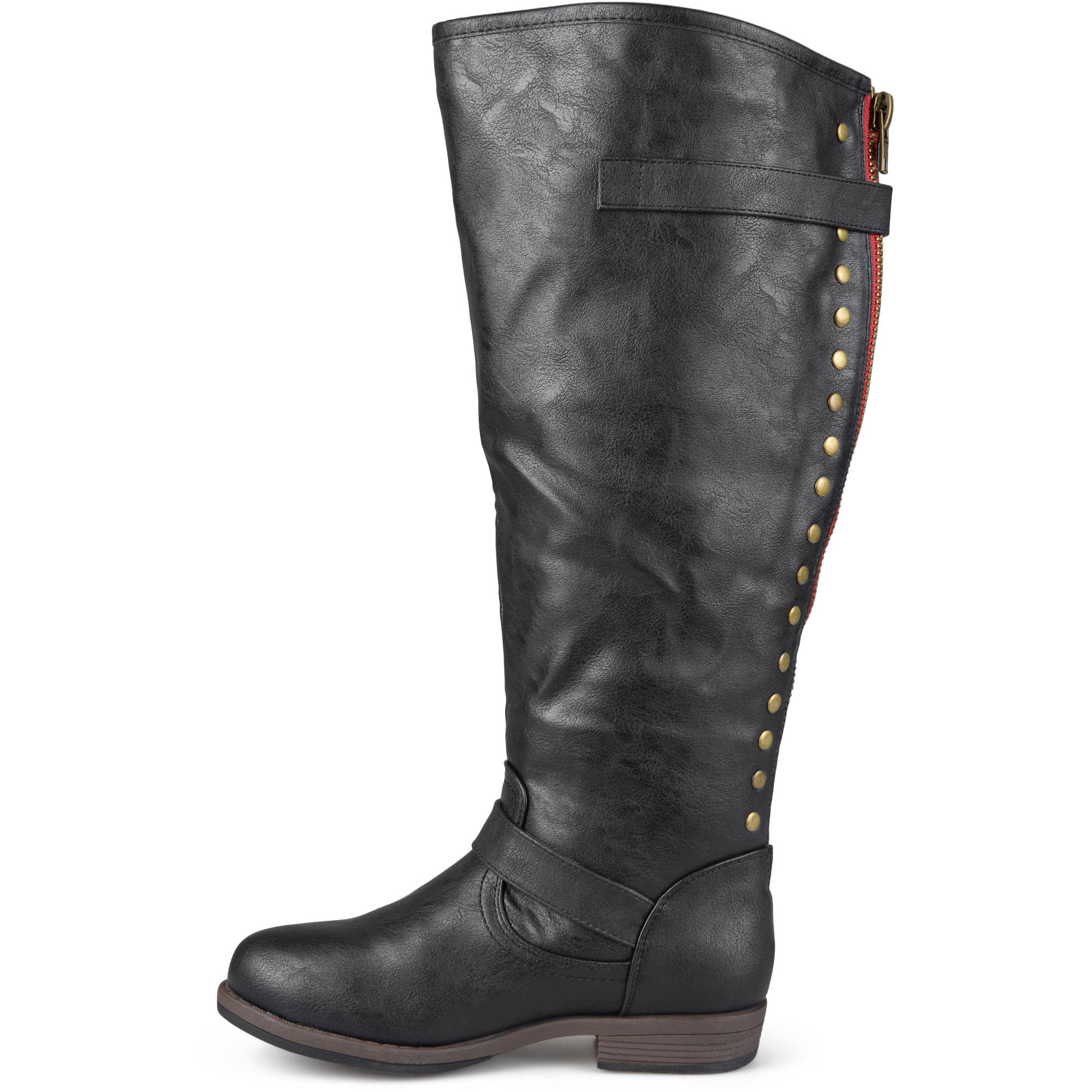 082eeb997f4f Womens Extra Wide Calf Knee-high Studded Riding Boots .