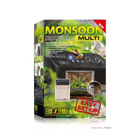 (Exo Terra PT2493 Monsoon Multi System Reptile Terrarium Humidifier)