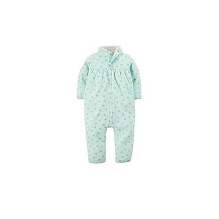 139e88dbc87 Carter s - Baby Girls  Zip Up Glitter Heart Print Fleece Jumpsuit - 9  Months - Walmart.com