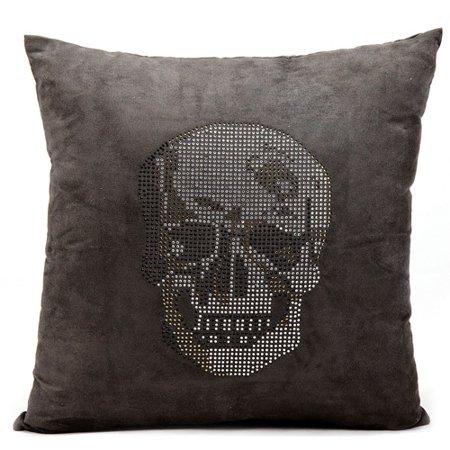 Luminecence Rhinestone Skull Decorative Throw Pillow 40 X 40 Mesmerizing Rhinestone Decorative Pillows