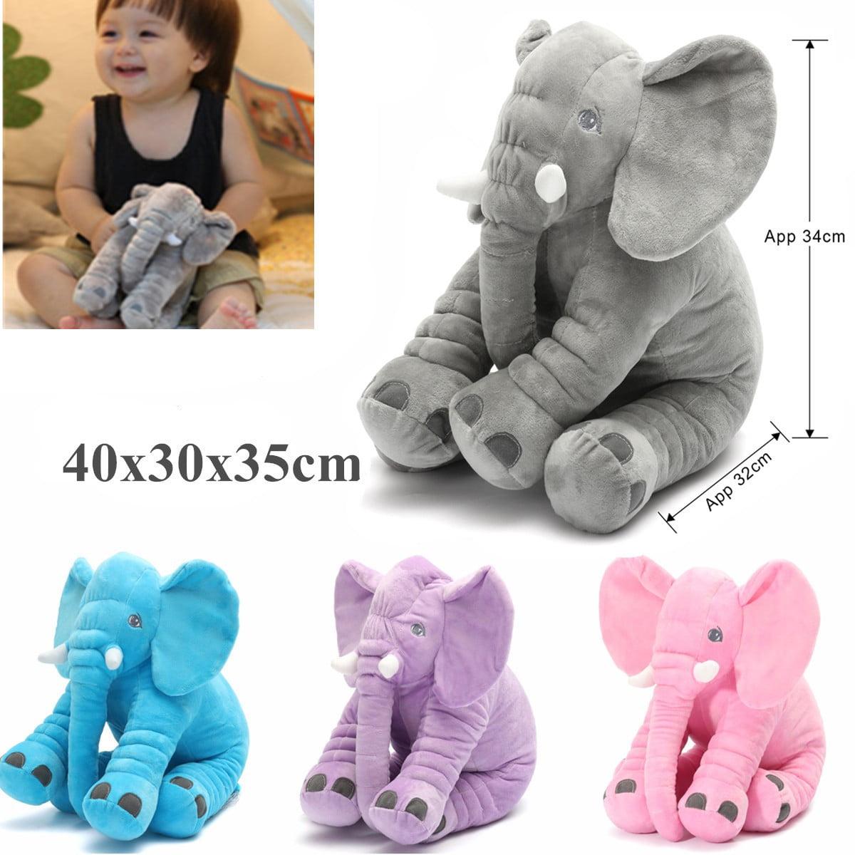 Long Nose Elephant Pillow Doll Toy Baby Sleeping Warm Lumbar Soft Plush Cushion