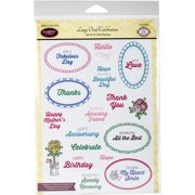 "JustRite Papercraft Clear Stamps 6""X8""-Large Oval Celebration"
