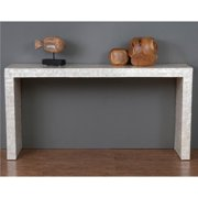 Crafted Home Decorative Selma Modern Off-white Rectangle Console Table