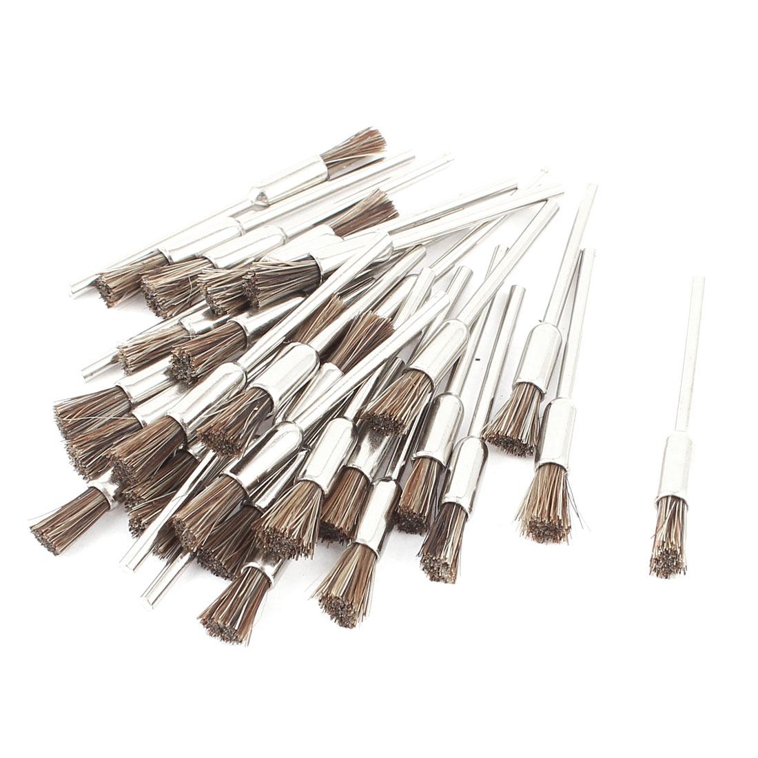 2 3mm 2 32 mandrel brown bristle pen shape brushes