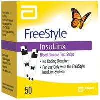 FREESTYLE INSULINX Blood Glucose Test Strips 50 CT BOX