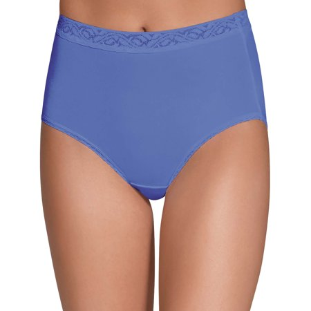 Women's Assorted Nylon Brief Panties - 6 (Nylon White Brief)