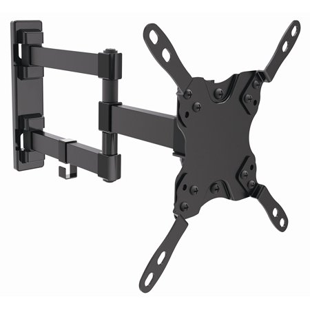 Husky Mounts Full Motion TV Wall Mount For most 10 - 32 Inch and Larger LED LCD Flat Screen TVs and Monitors with Up to VESA 200x200 Swivel Corner Friendly TV bracket Loads UP to 44 lb 10 Inch Mount