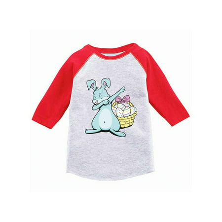 Awkward Styles Dabbing Easter Bunny Raglan Shirt for Kids Easter Bunny Jersey Tshirt Easter Egg Gifts for Kids Funny Easter Bunny Baseball Jersey for Boys Easter 3/4 Sleeve Shirt for Girls Easter Gift (Pikachu Girl Or Boy)