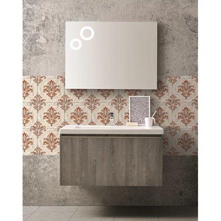 J M Furniture Single Composition 18 Premium Bathroom Vanity Set With Mirror