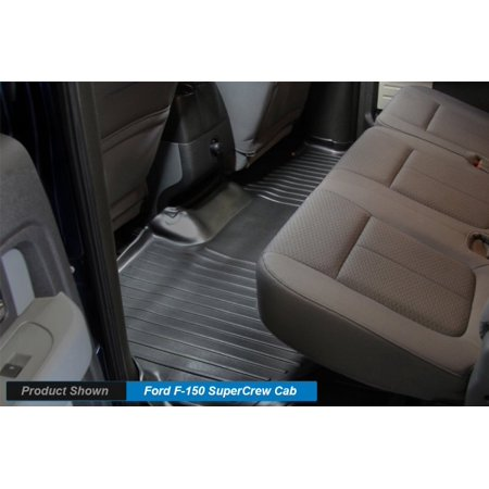 Cab 2nd Row Mats (Maxliner 2009-2014 Ford F150 Super Crew Cab Floor Mat Second Row Black)