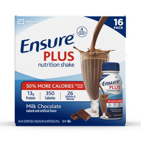 Ensure Plus Nutrition Shake with 13 grams of high-quality protein, Meal Replacement Shakes, Milk Chocolate, 8 fl oz, 16 - Meal Replacement Dutch Chocolate