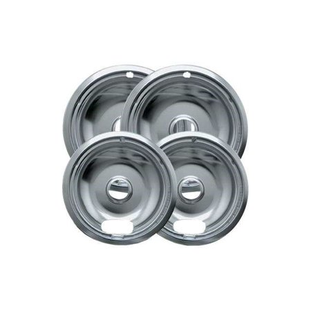 Best Range Kleen 4-Piece Drip Bowl, Style A fits Plug-in Electric Ranges Amana, Crosley, Frigidaire, Kenmore, Maytag, Whirlpool, Chrome deal