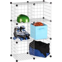 Honey Can Do Steel Modular Mesh Storage Cube, Multicolor (Pack of 6)