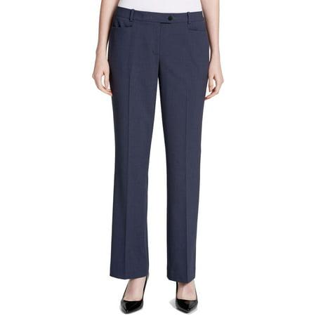 Calvin Klein Womens Petite Straight-Leg Dress Pants