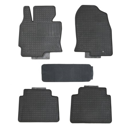 Black Rubber Floor Mats for 2013-2016.5 Mazda CX-5 All (Mazda 6 All Weather Floor Mats 2015)