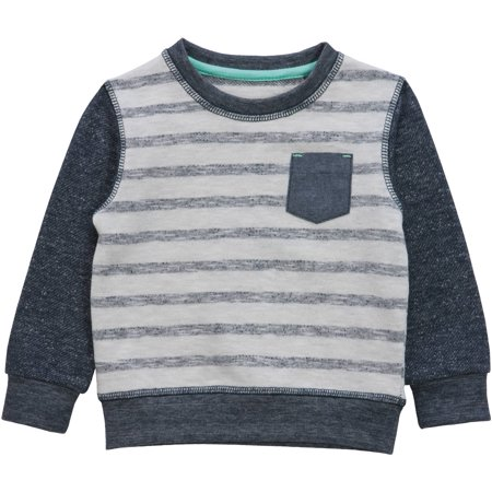 No Retreat Toddler Boys' Striped Raglan Long Sleeve Knit Sweatshirt