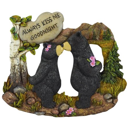 Pine Ridge Couple Black Bear With White Stone Inscribed