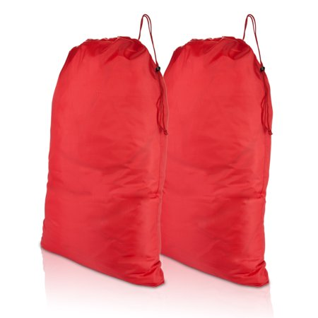 Dalix Large Travel Laundry Bag For Camp College Drawstring Bags 2 Pack Red