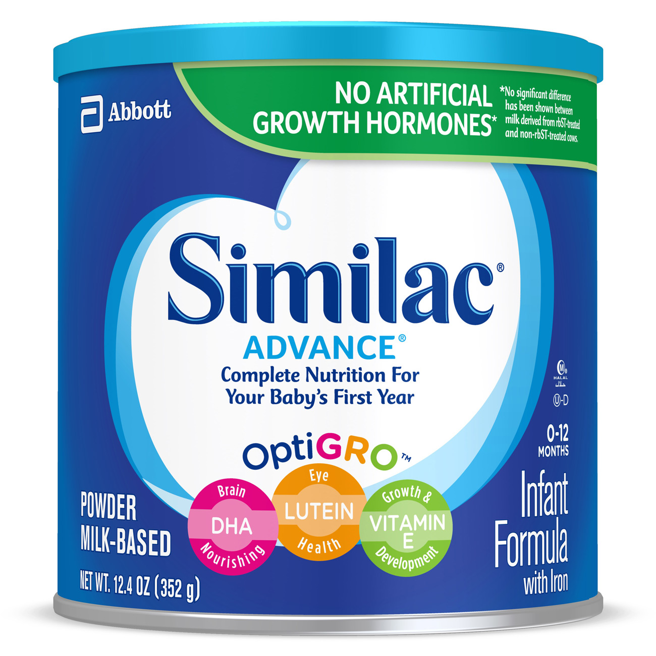 Similac Advance Infant Formula with Iron, Powder, 12.4 oz (Pack of 6)