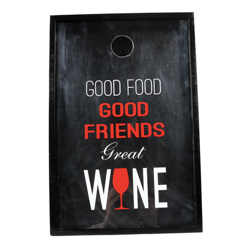 DEI Wine Sayings Friends Shadowbox Cork Keeper