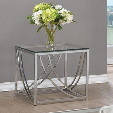 Coaster Company End Table, Chrome Chemguard Top Science Table