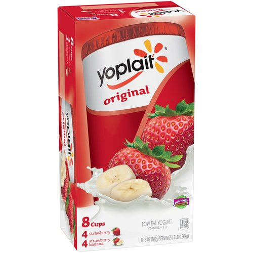 Yoplait Original Yogurt,  4 ct Strawberry and 4 ct Strawberry-Banana, 3 lb