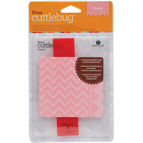 Provo Craft Cuttlebug Embossing Folder Set, Charles
