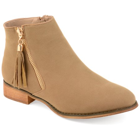 Womens Side Zip Faux Suede Ankle Boots