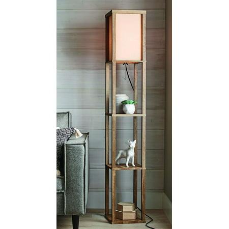 Better Homes and Gardens Crossmill Shelf Floor Lamp ()