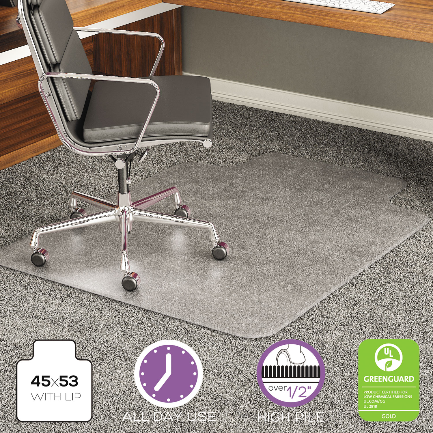 Deflecto Exeat 45 X 53 Chair Mat For