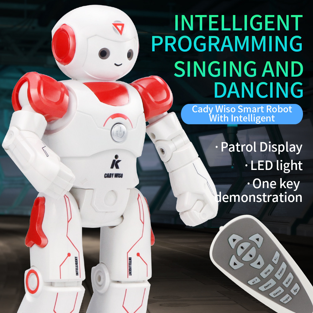 Mosunx Intelligent JJRC R12 Remote Control Programmable Song/ Dance RC Robot Toy